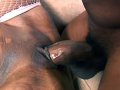 Cock-starved black girl Cherokee D Ass fuck with pleasure. ?obby fucker stretches her pink butterfly by..