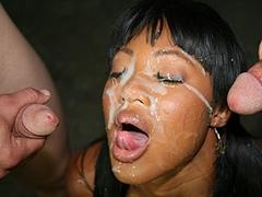 Black porn gang bang video. Porn star..