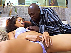 ebony babe Victory Phoenix fucks Lex Steele in this all-black hardcore viddeo clips