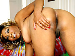 Ebony MILF with natural titties getting nailed from behind. Tengie Sweet