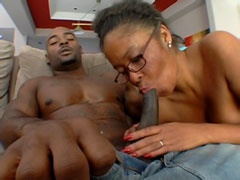 Dark dong facefuck big busty ebony..