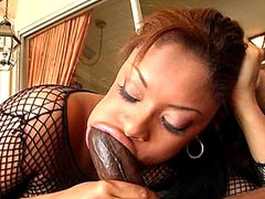Ebony slut eating nigga monster dick..