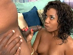 Ebony tute gives blowjob to niggas..