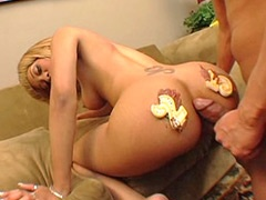 Melrose Foxxx, gets cake and wild interracial sex in Birth..