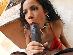 Giant african cock face fuck and hard bang ebony tute..