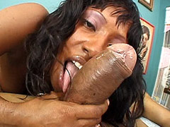 Gigantic monster cock screwing wild ebony babe