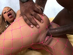 18 year old ebony slut Melrose Foxxx, bang by 24 inch cock