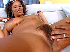 Ebony big booty babe gets big black..