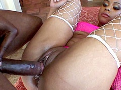 Beauty sexual babe sucking and anal fucked by big niggas..