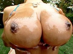 Big tits ebony lady sucking and..