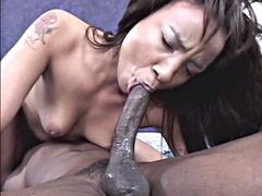 Horny ebony whore getting penetrated..
