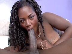 Big boobs african wife sucking long..