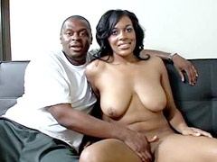 Brotha drilled shaved cunt ebony milf..