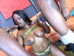 Busty Jada Fire sucking cocks in group sex and cumshot
