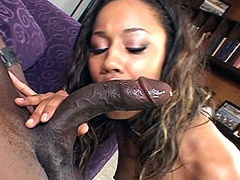 Ebony plays with big cock and cunt..