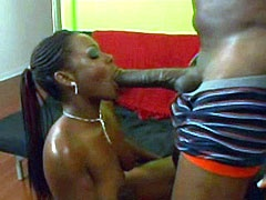 Big ass ebony babe sucked big niggas dong and fucks