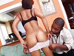 Famous ebony pornstar Melody Jackson,..