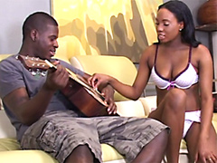 Cute ebony chick, Mahlia Milian, gets..