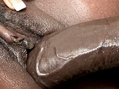 Famous black porn star Aryana Starr facial cumshot