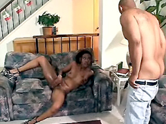 Ebony housewife anal sex and anal cream pie