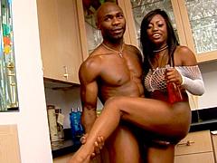 Ebony porn star, Jada Fire porn video