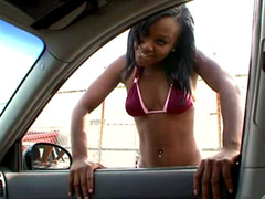 Juicy tits ebony teen hard fucked by..