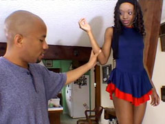 Beauty ebony chick Nina Bonnet gets her pussy licked and fucked at home