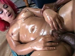 Huge monster cock banging chubby ebony..