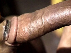 Pretty ebony gal banged by big cock in..
