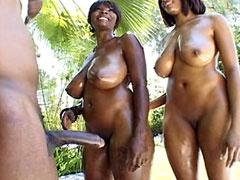 Two busty ebony lesbians hardcore..