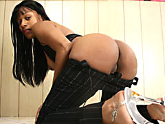Flexible black MILF getting fucked in several fun positions. Tyler Knight, Ginger