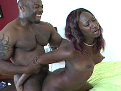 Gen tilly is manhandled by big ebony..