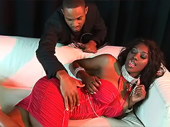 Glamour black baby sucking and fucking with playboy macho