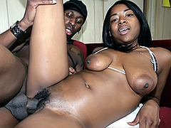Royalty - is a hot black chick in a tiny bathing suit and ample tits and ass. Pretty soon his..