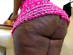 Huge ass ebony BBW Marshae smarten up after awaking it..
