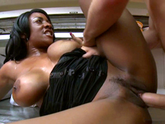 Huge boobs ebony mature Sincerre Lemore pussy fucked deep