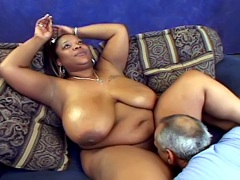 Huge titted ebony MILF Miss Royalynn..