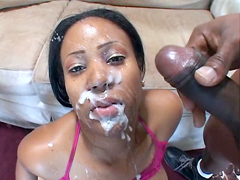 Janae Foxx is the hottest young black pornstars you're going to run into.This petite 19 year old certainly in the mood to take this mega pounding. Janae wraps her lips around those dickheads and gets to work, making them harder than they have ever imagine