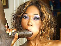 Mature ebony whore with natural..