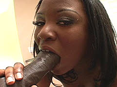 Pole riding ebony chick with a giant..