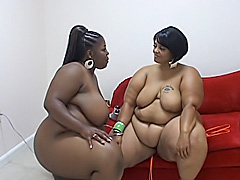 Ebony fatties give each other hot orgasms. Sabrina Love & Farrah Foxx