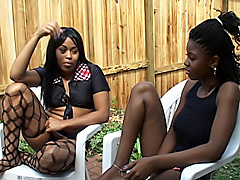 Black lesbian trio gets naughty in..