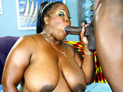 Obese ebony MILF bent over and getting fucked hard. Sabrina Love