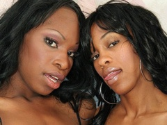 Several sex toys get used by these hot lesbian sistahs. Alana Play and Madison Luv