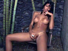 Sedcutive Brazilian tranny teasing her juicy cock