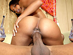 Small breasted ebony housewife riding a hard black cock. Justin Long, Nina Cole