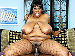 Super skinny ebony MILF showing off her naked body. Nathan Threat, Mz. Caution