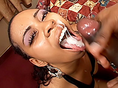 Thick black bitch gets her pussy fucked