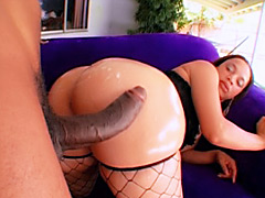 Black chick Keisha Kane gets her big round booty pounded