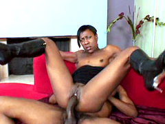 Wild black mom sucks and rides very..